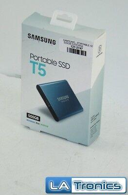"""SAMSUNG T5 500GB 2.5"""" USB 3.1 V-NAND External Portable SSD MU-PA500B/AM"""