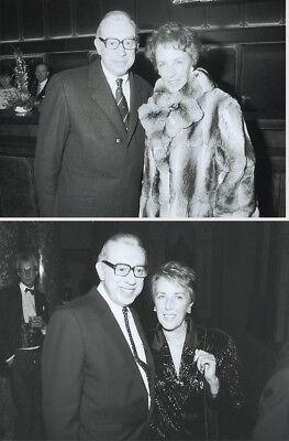 2 Fotos Schauspieler HORST TAPPERT - SW Pressefoto Vintage von 1986/87 - DERRICK