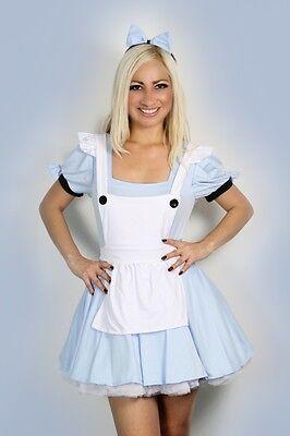 Sexy Halloween Damen Alice Im Wunderland Kostüm S M L XL XXL