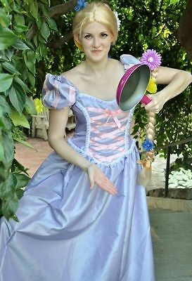 Tangled Rapunzel Dress Gown Costume, Adult - Your Size Busts 32