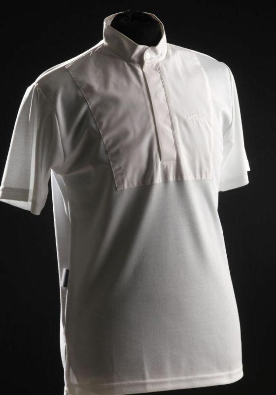 PEI (Premier Equine) Teque-style Mens Short Sleeved Stock Shirt - White  Premier