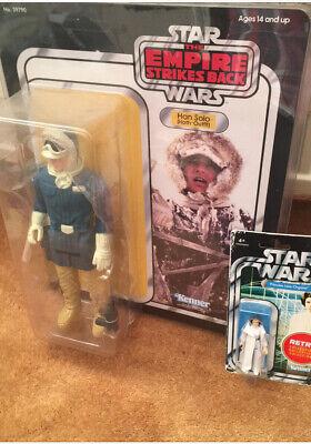 """Star Wars Vintage Style Gentle Giant Jumbo 12"""" Han Solo Hoth Action Figure"""