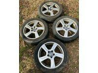 "X4 5x108 Genuine Volvo S60 V60 17"" Balder Alloy Wheels 31200602 7J With Tyres"