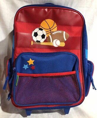 (Stephen Joseph E7 Baby Toddler Boy Classic Rolling Luggage – Sports SJ-8001-91)