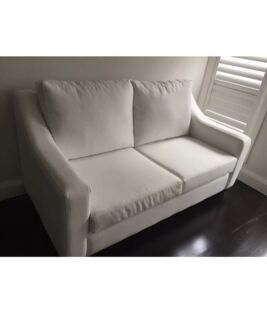 White  fabric lounges