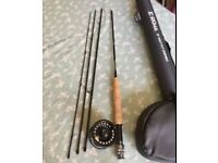 Shakespeare Sigma 8ft wt4 fly rod Set up new