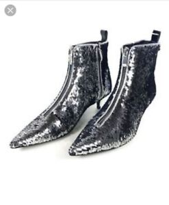 Zara Sequin Ankle Boots