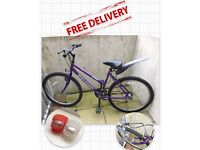 Purple Bicycle+ Bicycle Lights + bike lock + (free delivery to anywhere in Portsmouth) = only 50£