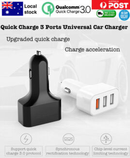 3 Port USB Fast Car Charger