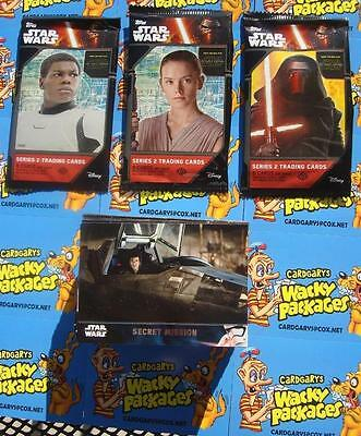 2016 TOPPS STAR WARS THE FORCE AWAKENS Series 2 COMPLETE SET 100 Cards sale!!!