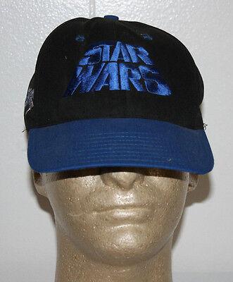 Disney Star Wars X Wing Fighter Script Black Blue Snpaback Hat Cap