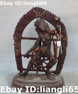 China Bronze Blume Vajrayogini Vajravarahi Buddha buddhistische Faqi Statue