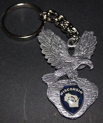 Wisconsin - Eagle Key Chain