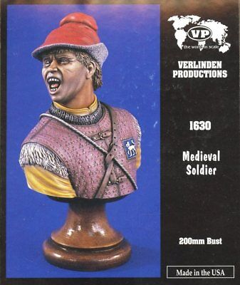 Verlinden Productions 200mm Medieval Soldier Figure Bust Kit 1630