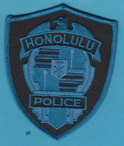 HONOLULU HAWAII  POLICE SUBDUED  SHOULDER PATCH  (blue)