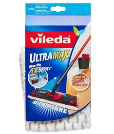 Vileda UltraMax 2 PACK Flat Mop Pad Refill Microfibre 1 2 Spray Cleaning