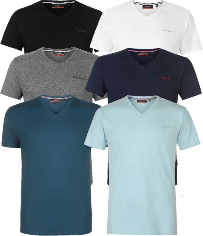 e86b54497c70c6 ... PIERRE CARDIN Herren T-Shirt V Ausschnitt Freizeit Fitness Sport Sommer  Hemd ...