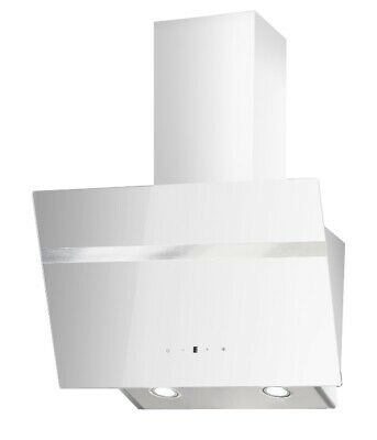 Campana Extractora PKM Blanco sin Cabezal Cristal 60cm Oblicua Aire De Nuevo
