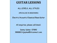 Guitar Lessons, Experienced teacher