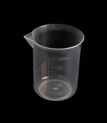 New 100ml 3.3oz Plastic Beaker Measuring Kitchen Cup 20ml Graduations For Labs