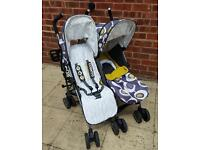 Cosatto Supa Dupa Double Buggy / Pushchair - Limited Edition 'Boggles'