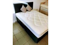 Delivered As Shown Brand New Divan Bed Double Size Memory Foam Mattress