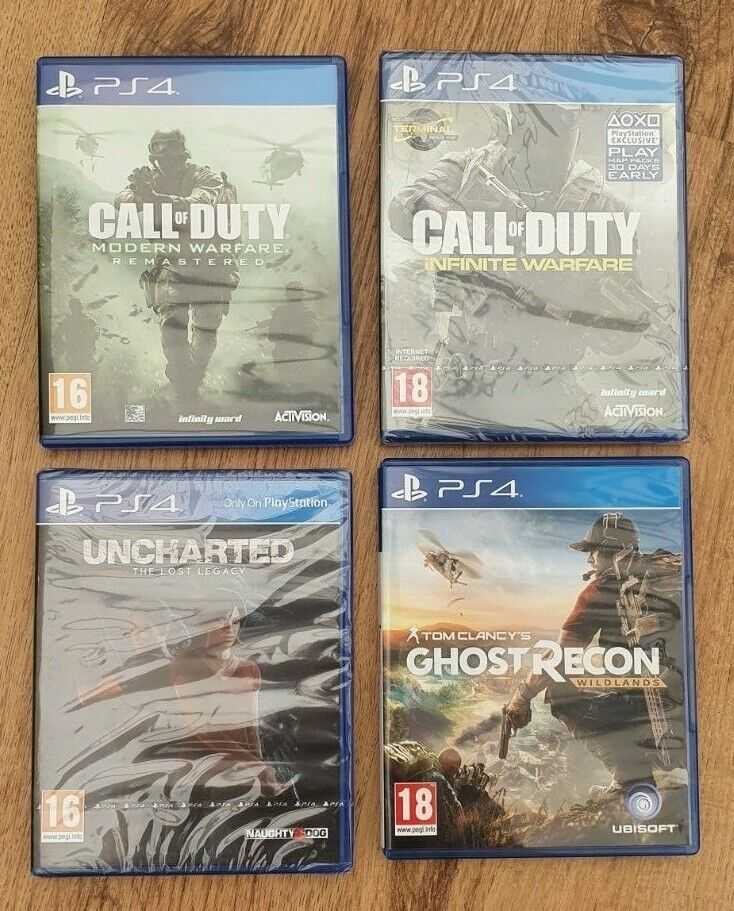 PS4 Games Bundle - 2 Unopened
