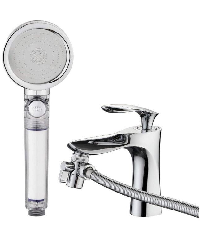 Jianan Sink Sprayer Hose 3-Modes High Pressure Filter Bathtub Shower Rinser 6.5