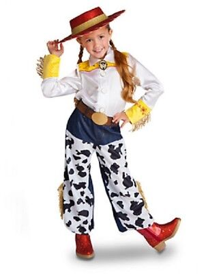 Disney Store Toy Story Jessie the Cowgirl costume 10 plus hat w/ braid dress up