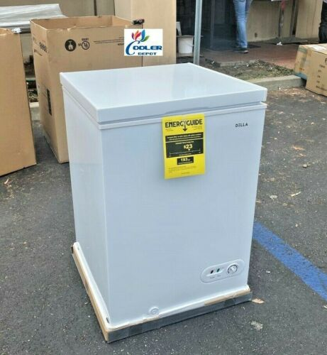 NEW Solid Top Chest Freezer Storage Cabinet NSF 3.5 Cu Ft -- Free Home Delivery