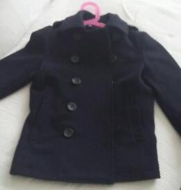 Dark navy blue coat 5-6 years Feraud