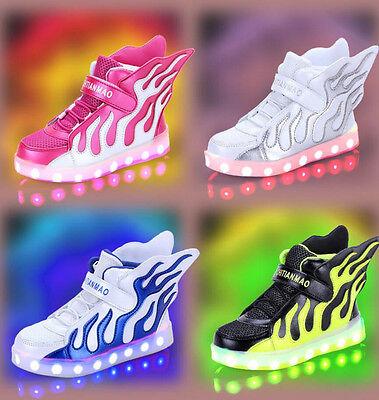 Flügel Kinder Mädchen Jungen Kinderschuhe Led Licht Sneakers Schuhe Blinkschuhe ()