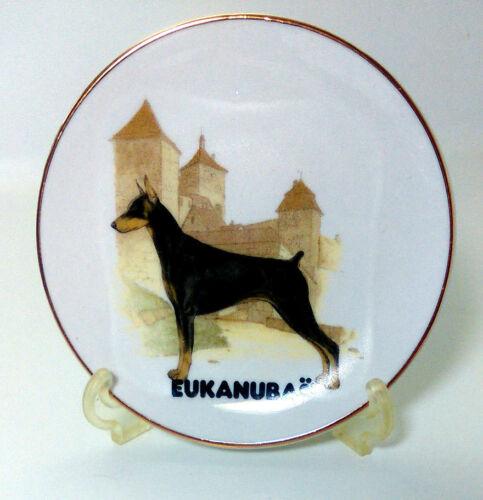 Doberman Dog Mini Plate 4 inches Eukanuba