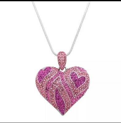 Light Pink Heart (VALENTINES DAY LOVE HOT PINK LIGHT PINK HEART RHINESTONE)