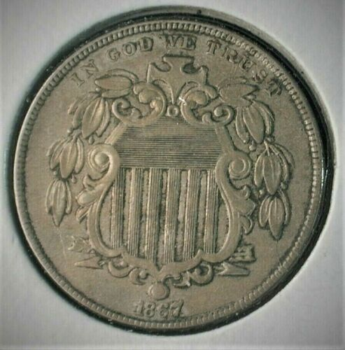 1867 with Rays Shield Nickel in Choice XF+ Condition            (MATZH)  #C701