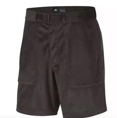 Nike SB Velvet Shorts Dry Built-in Belt Brown Corduroy AA1075-220 $65 Mens (Nike Sb Belt)