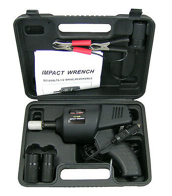 12 Volt Impact Auto Wrench Roadside Emergency Portable Automotive Power Tools