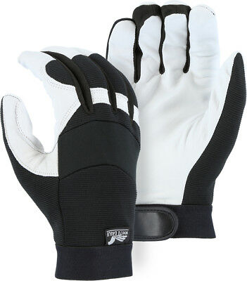 White Eagle Mechanics Style Winter Insulated Goatskin Gloves Leather Work 2153t