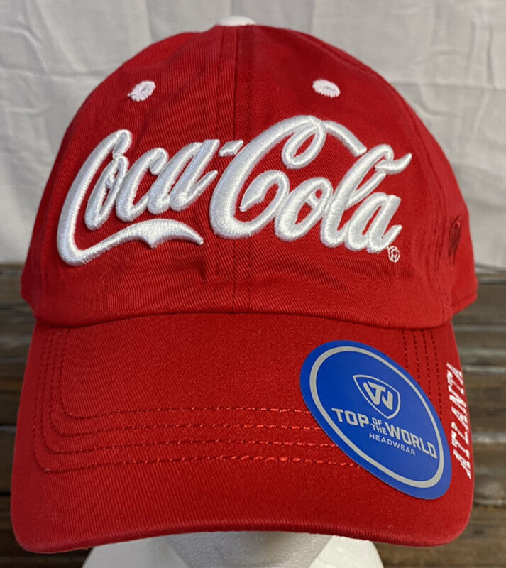 Coca Cola Hat Red New Top Of The World Adjustable Genuine Coke