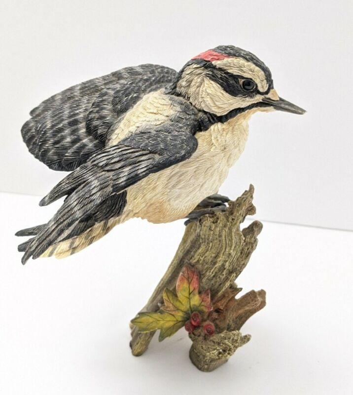 Ceramic Bird on Wood Figurine Vintage Custom Box