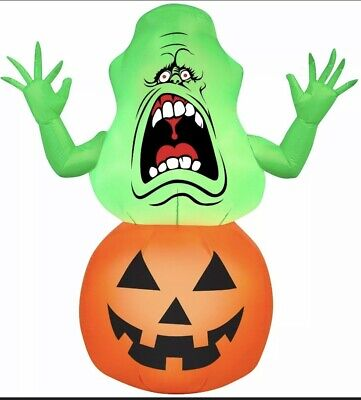 HALLOWEEN GHOSTBUSTERS SLIMER PUMPKIN HAUNTED HOUSE INFLATABLE AIRBLOWN 4.5 FT