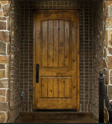 Tuscany Arch Top Knotty Alder Rustic Single Entry Door Arch Top Entry Doors