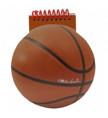 New Basketball Shape Notebook with Spiral Binding – 48 Blank White Pages