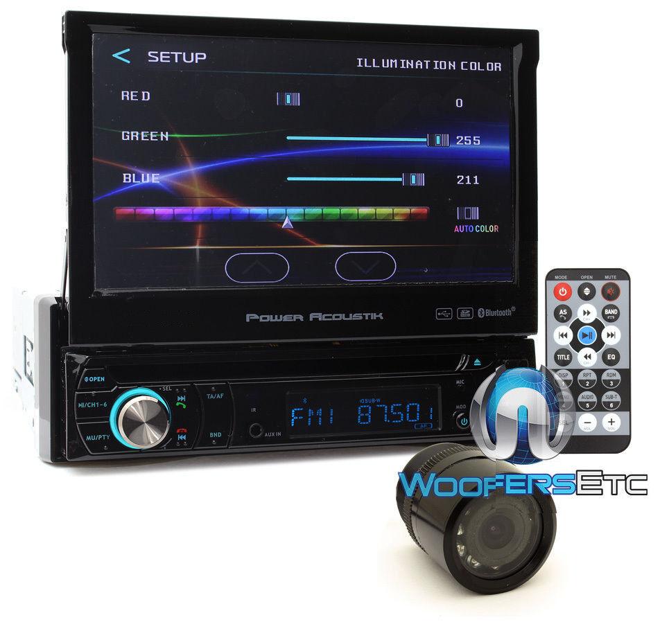 "pkg POWER ACOUSTIK 7"" TV CD DVD BLUETOOTH MP3 USB SD CAR VID"