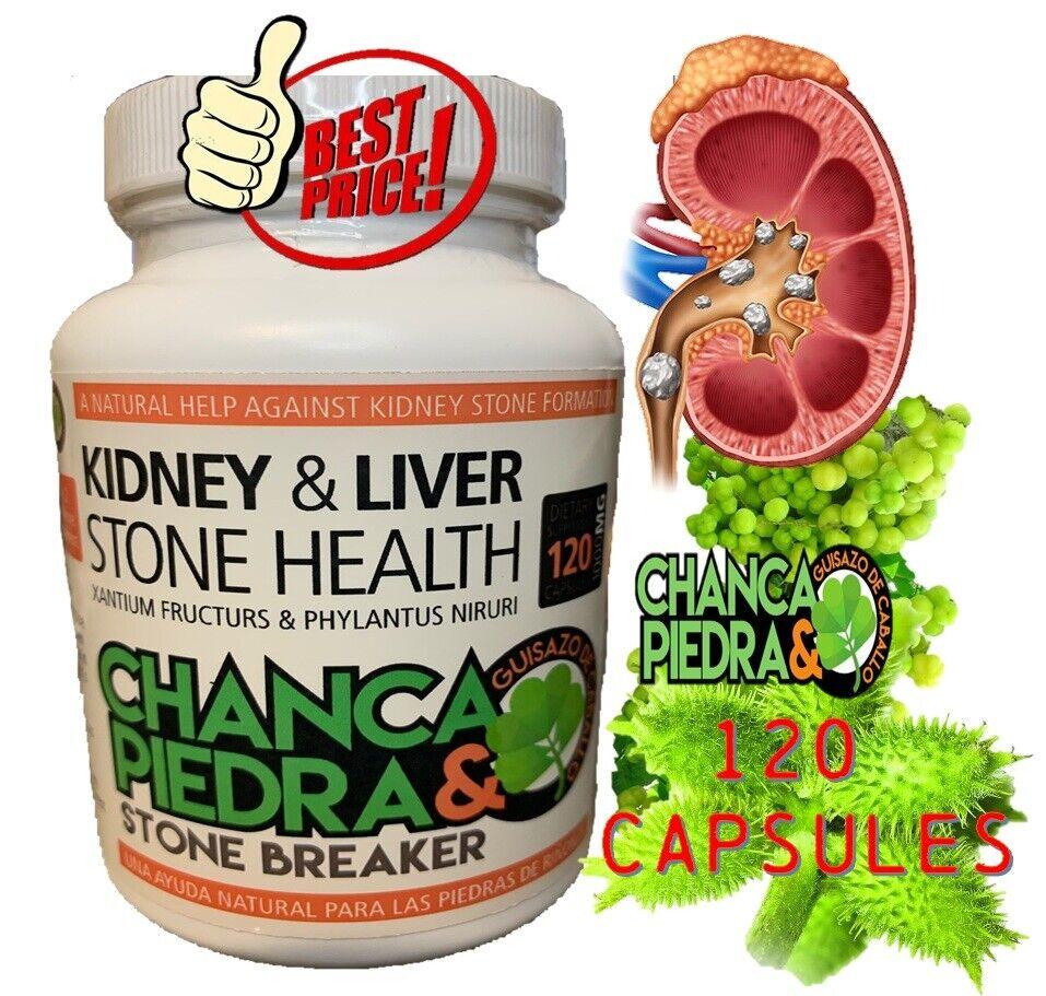 Chanca piedra Chancapiedra 1000mg Stone breaker kidney support & Guisazo 120 Cap