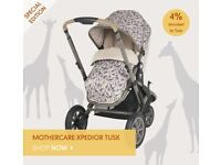 Mothercare three wheel pram. Newborn to toddler. Safari TUSK print