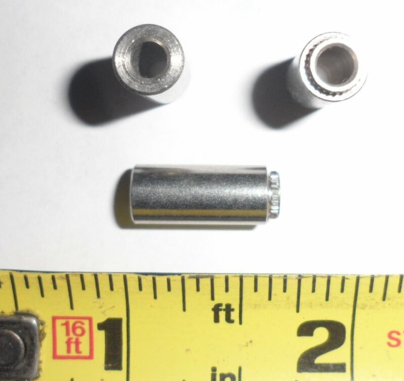 "250 ea .140"" ID x 5/8"" Long Clinch Spacers/ Standoffs - Stainless"