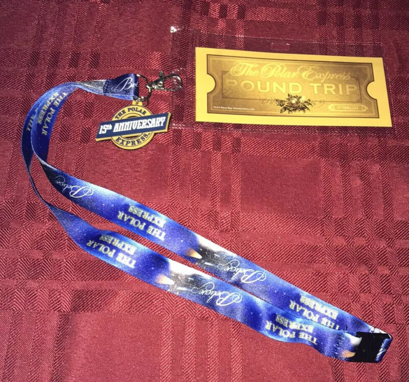 The Polar Express Lanyard And Ticket The 15th Anniversary NEW