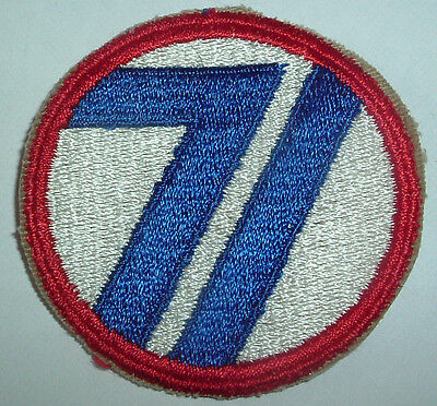 AMERICAN PATCHES-ORIGINAL WW2 71st INFANTRY DIVISION