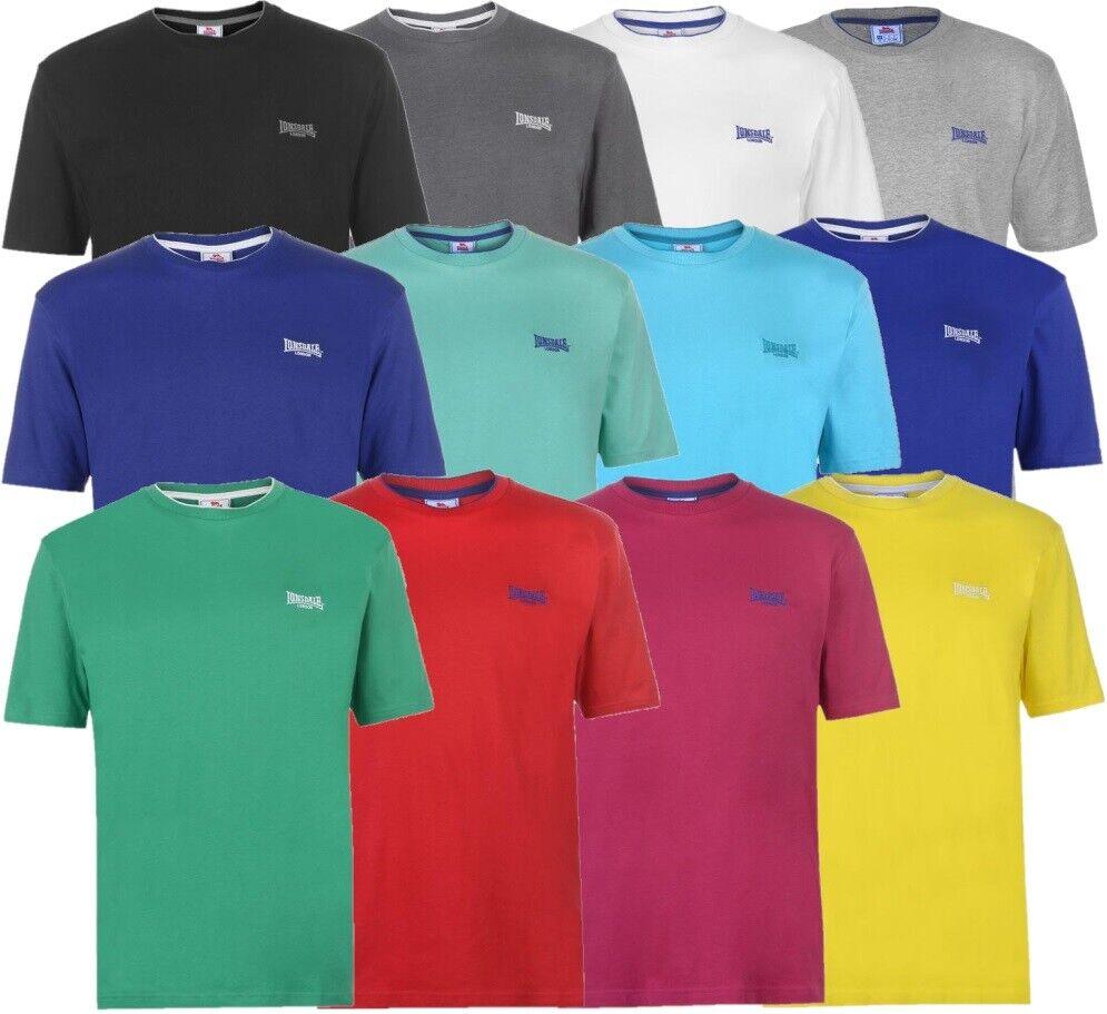 ✅ LONSDALE Herren Rundhals kurzarm T-Shirt Freizeit Sport Fitness Sommer TIPPED